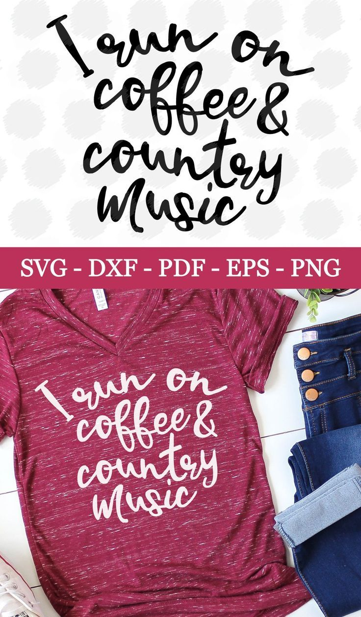 Coffee SVG Country SVG Country Music SVG  Svg Png Eps Dxf   Etsy