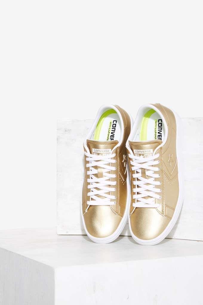 fa5171aecf07 Converse Pro Leather LP OX Vegan Leather Sneaker - Gold
