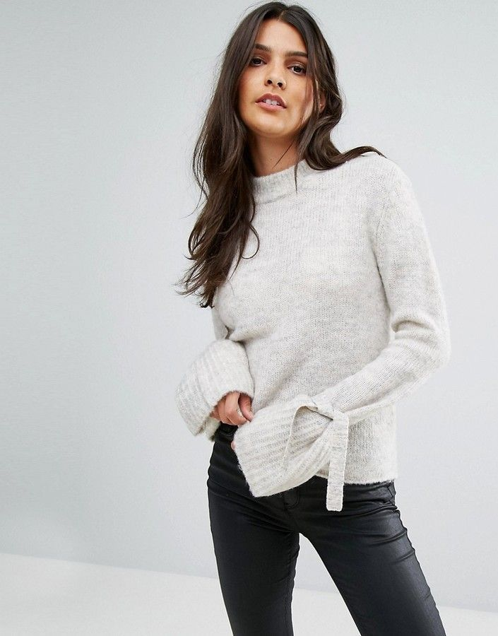 17c5a449900 Vero Moda Tie Sleeve Sweater