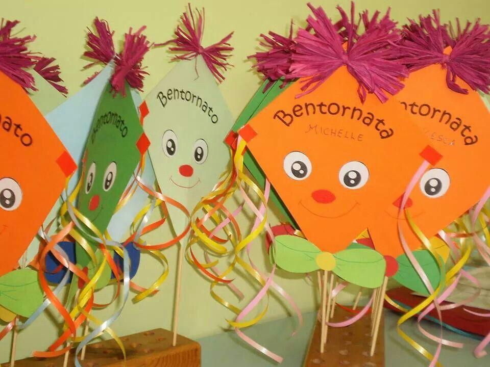 Aquiloni accoglienza scuola idee per aula bentornato for Lavoretti accoglienza scuola infanzia
