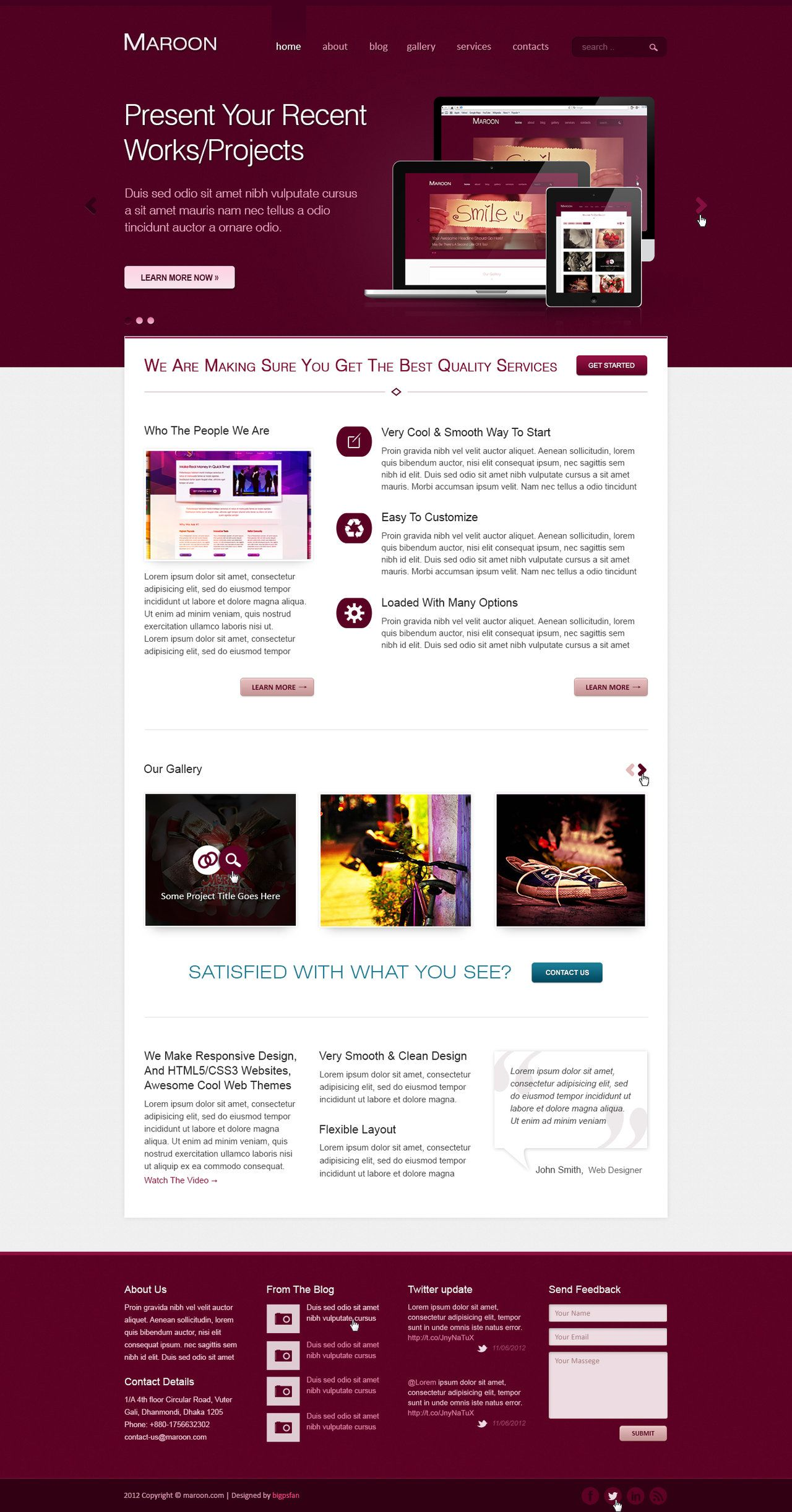 Maroon Premium Themeforest Psd Theme By Wnabcreative Deviantart Com On Deviantart Web Design Website Design Themeforest