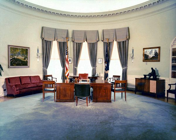 oval office design. Contemporary Design The Eisenhower Oval Office Circa 1956 On Office Design