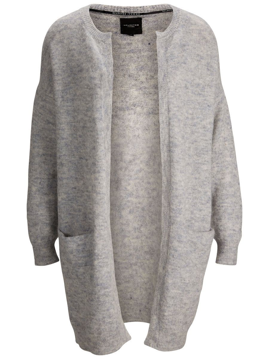 0f99396c755 SFAGNA - LANG MOHAIR CARDIGAN, Light Grey Melange | Clothes | Knit ...