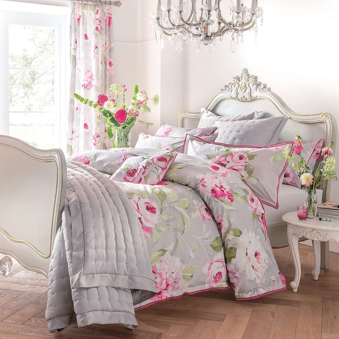 Dorma Pink Nancy Bed Linen Collection Dunelm
