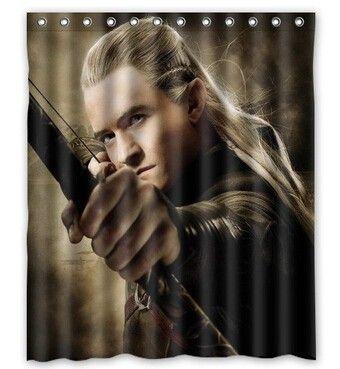 42 99 The Hobbit Legolas Shower Curtain Bilbobaggins