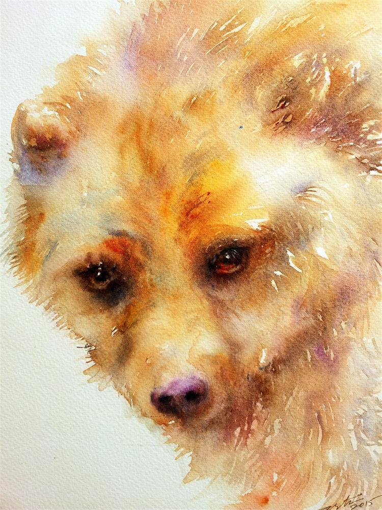 """Oso de Oro"" de la bella arte original de Arti Chauhan"