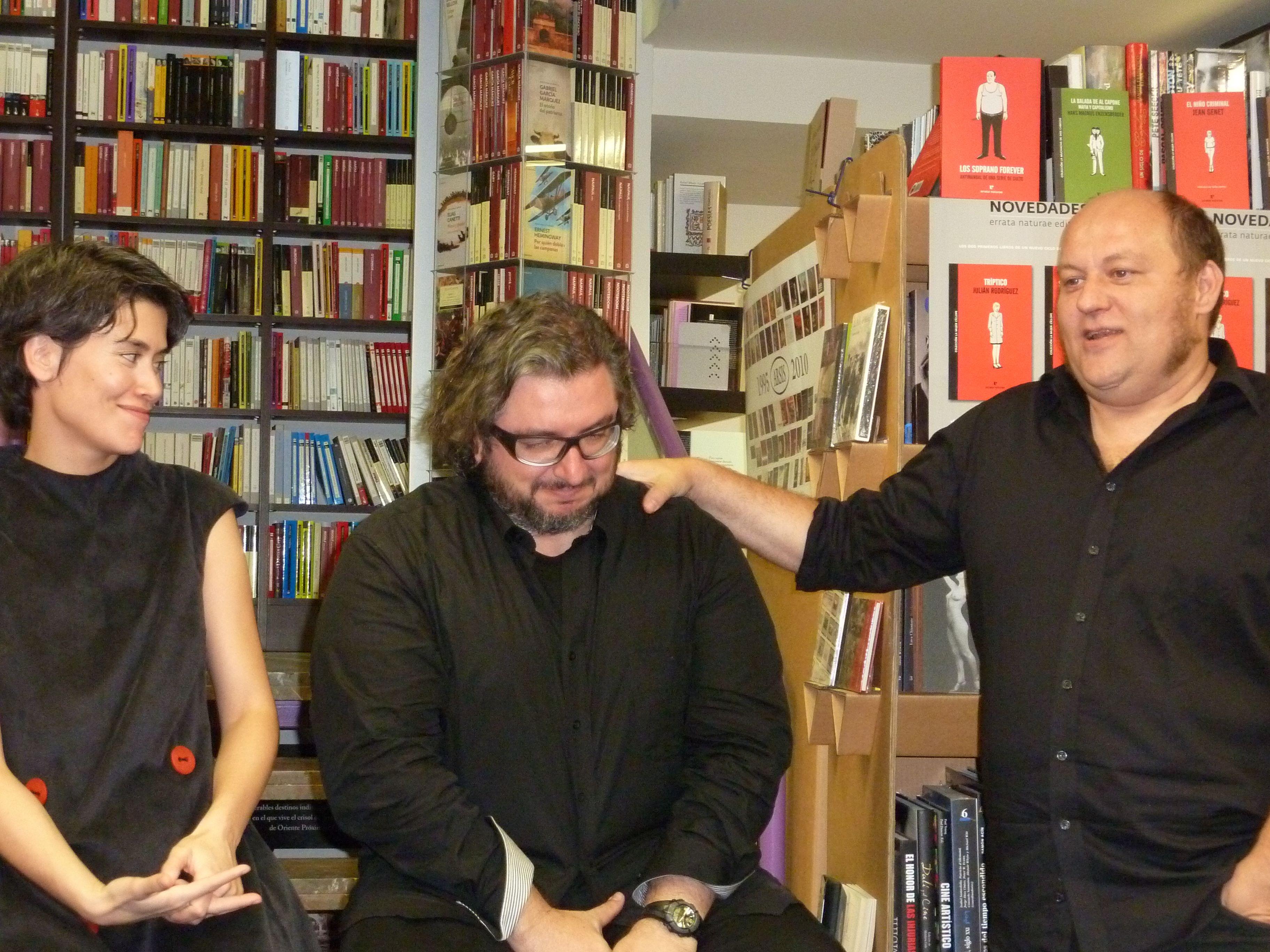 Irene Antón, Julián Rodríguez y Félix Romeo.