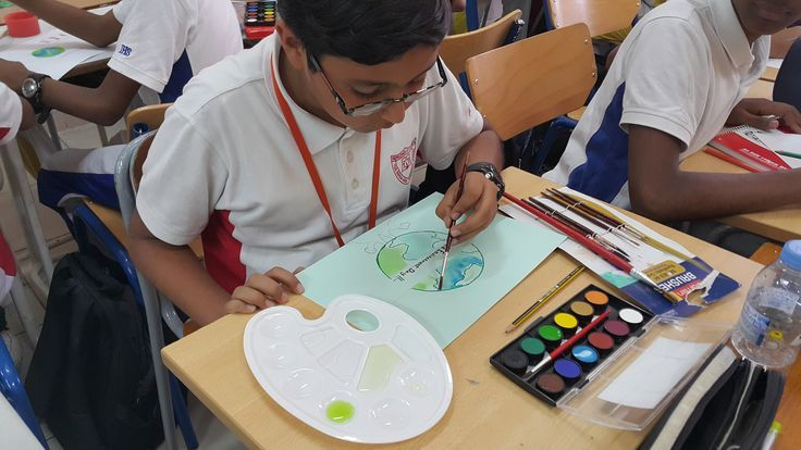 Students Artistically Communicate How WE Can Help Protect Natural Resources EarthDay PosterMaking