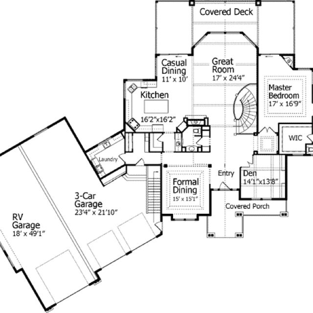 House With Rv Garage Garage Floor Plans Garage House Plans Unique House Plans