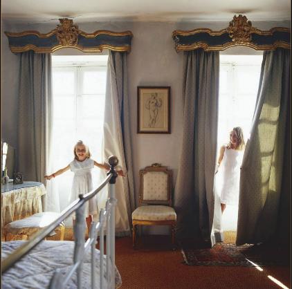 Those windows and curtain valances!! <3