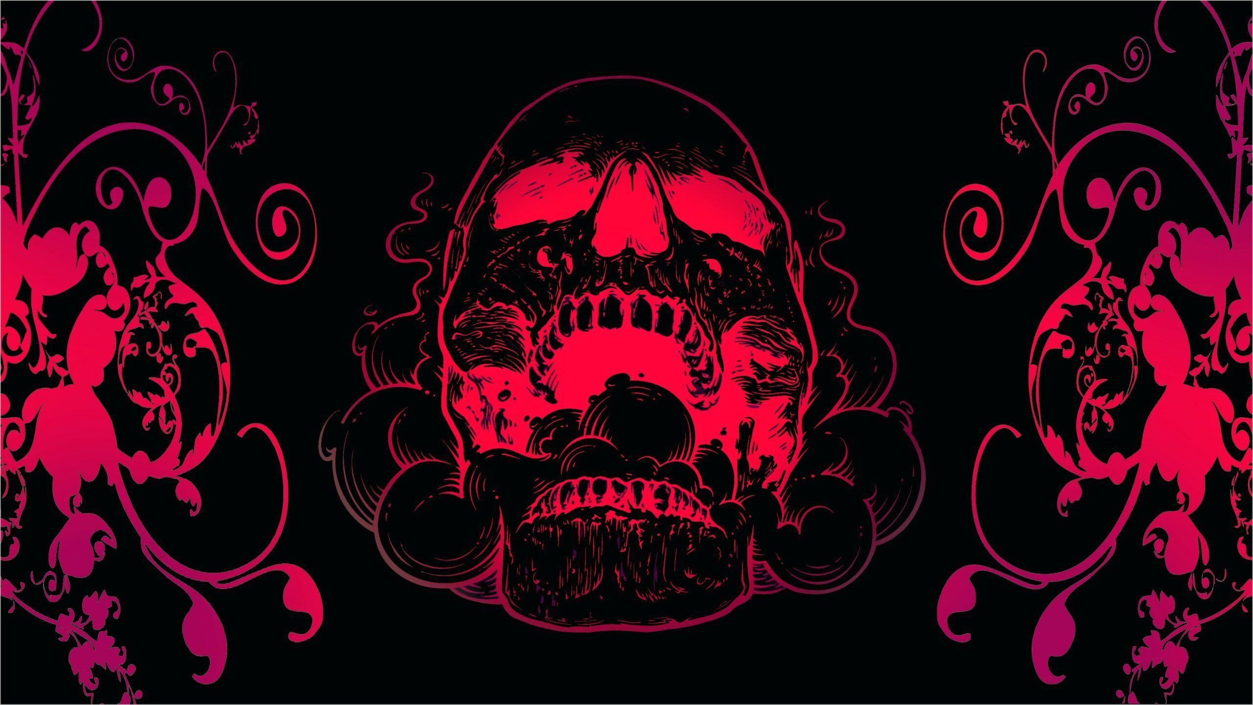 Skull Black Wallpaper 4k In 2020 Skull Wallpaper Flowers Black Background Black Skulls Wallpaper