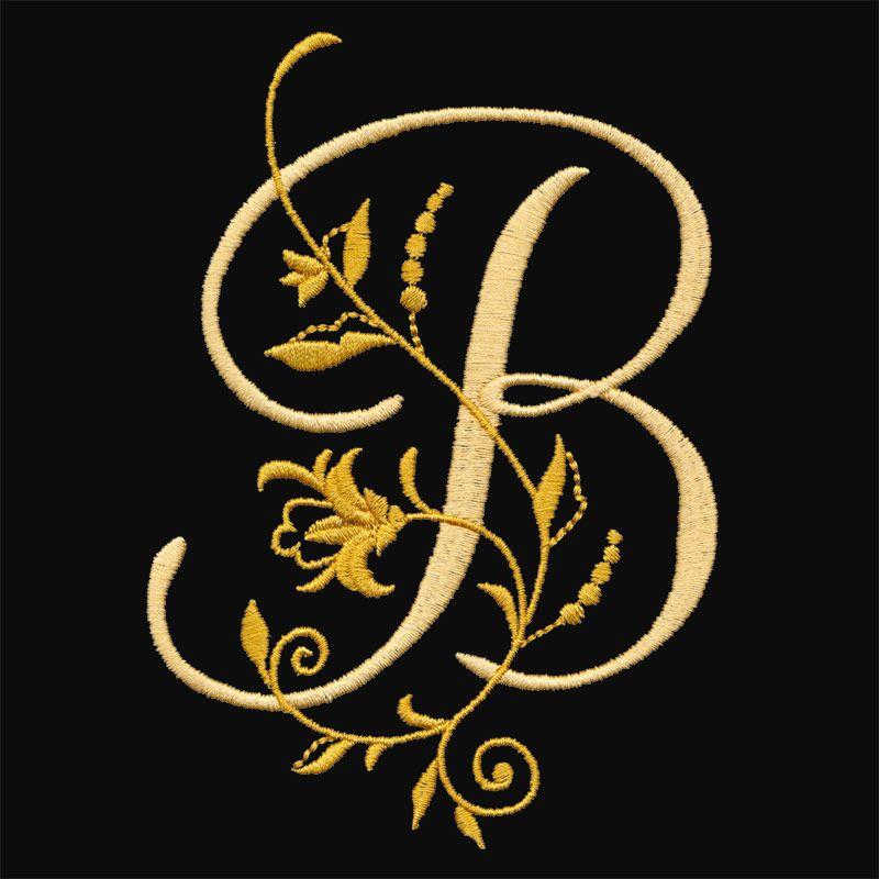Floral Monogram B Graphic Design Jobs B Letter Design Floral Monogram