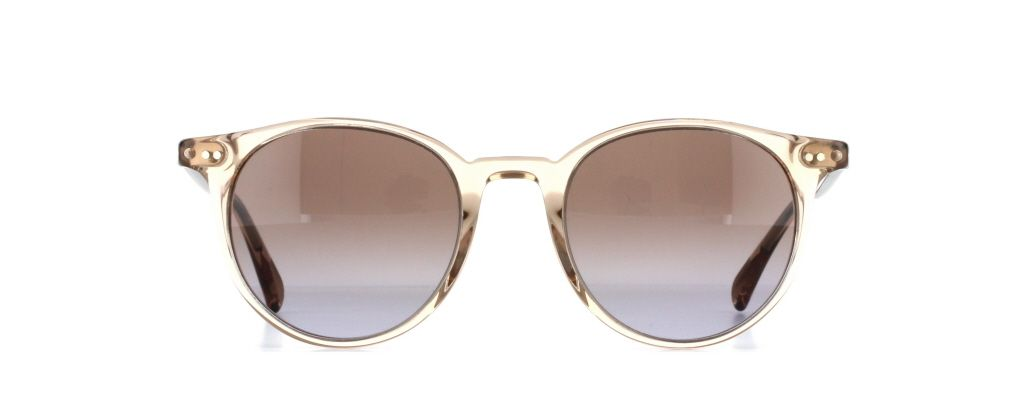 c3d67fda256c0 The Oliver Peoples Delray is the big brother of the famous O Malley model.  This is the Delray Sun OV5314SU in Taupe Rose Gradient.