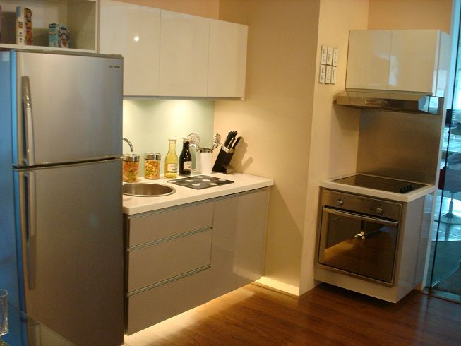 Interior designs tiny modern edgy and cozy kitchen for Small kitchen unit ideas