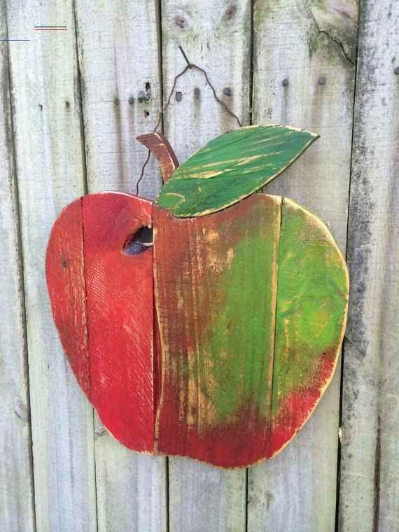 Photo of Pallet in legno di mela rigenerato rustico – decorazione murale, autunno, autunno, ritorno …