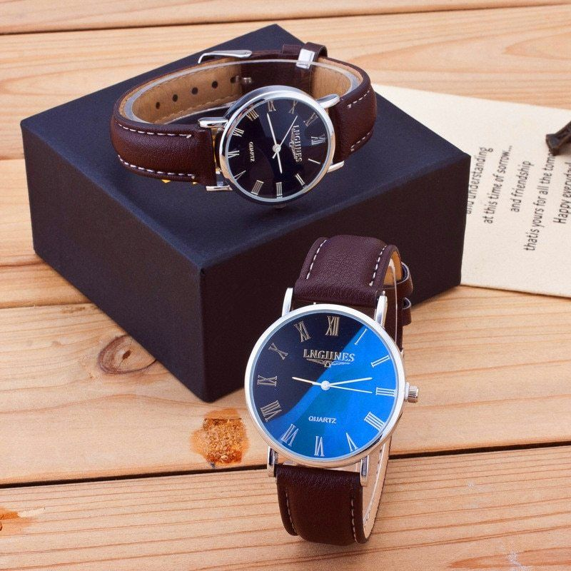 Men Watches Luxury Brand Thin Full Genuine Leather Simple