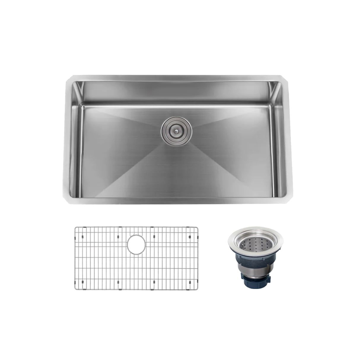Miseno Mss3018sr Sink Stainless Sink Double Bowl Sink