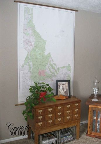 How To Hang A Large School Map Easy And Cheap Make It Look Like A - Cheap large maps