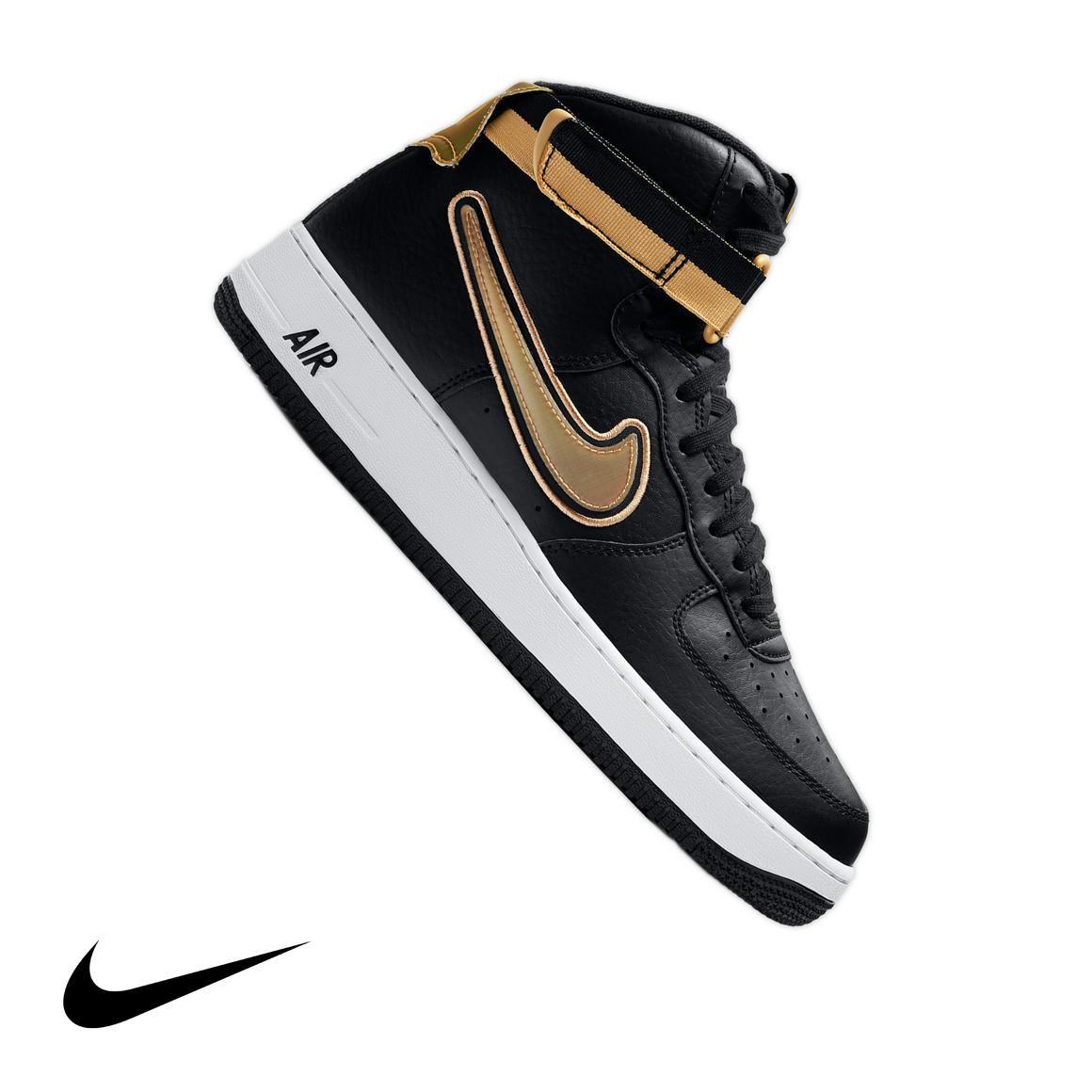 "Nike Air Force 1 High '07 LV8 Sport ""Black/Gold"" Men's"