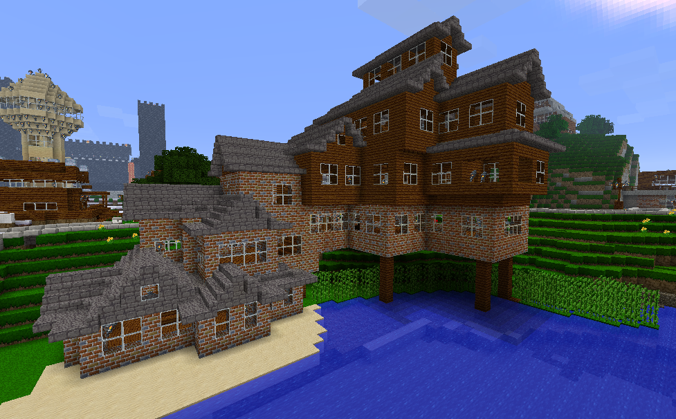 Minecraft Beach House Built This House After I Gave Ilovzombi - Awesome minecraft houses