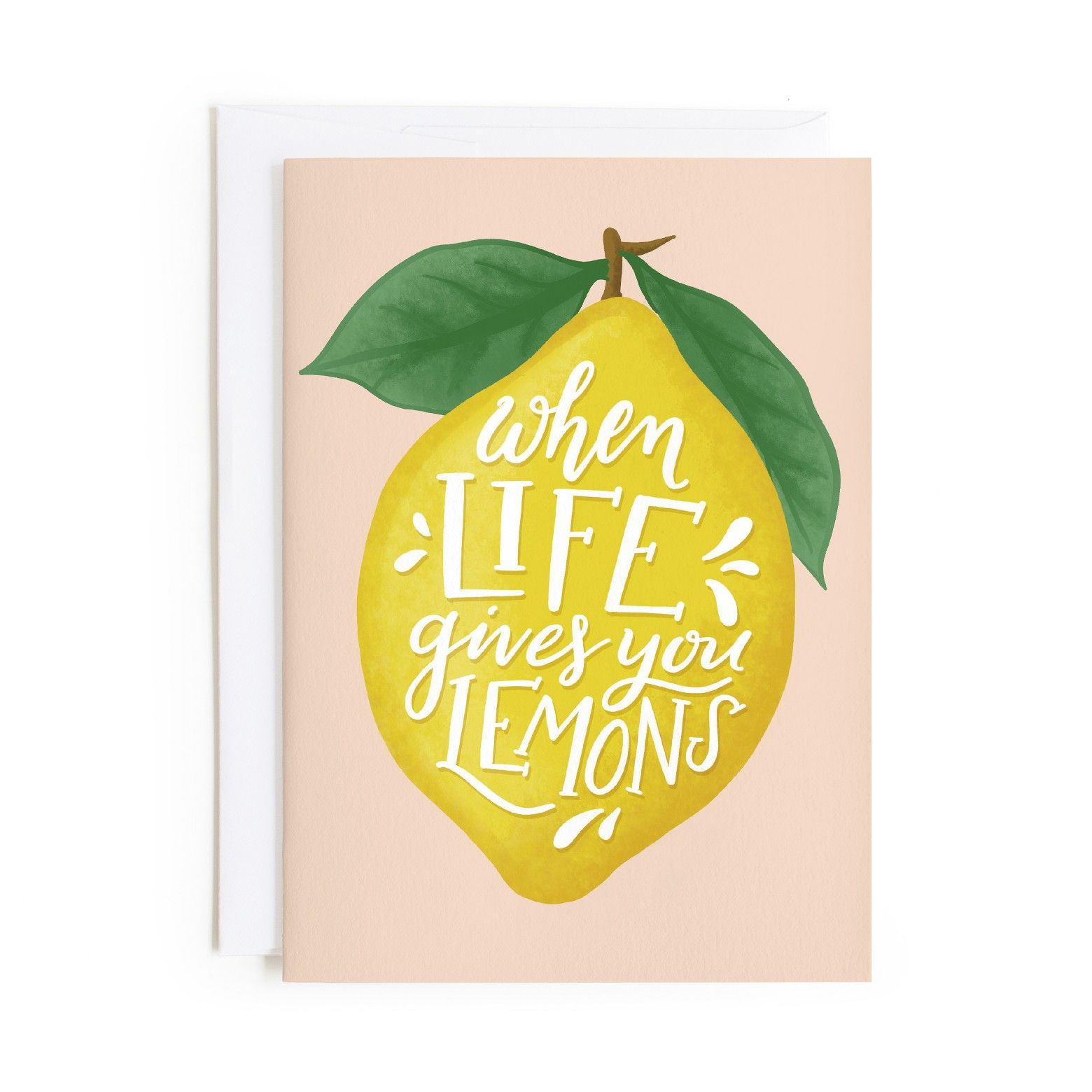 When Life Gives You Lemons Friends Card Greetingcard Ad Card