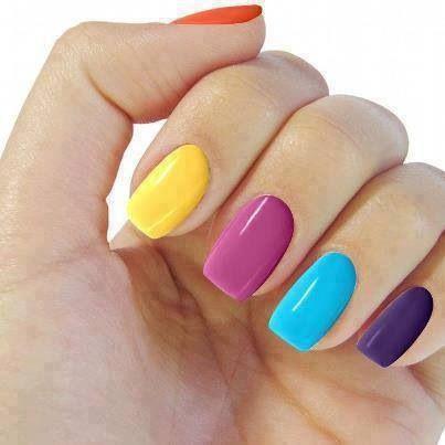 Colorful manicure