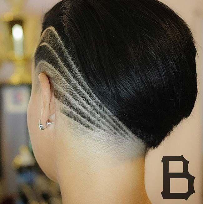 rasieren rasierte seiten kurzhaarfrisuren undercut kurze haare tolle frisuren nacken haarfarbe muster frau - Undercut Frauen Nacken Muster