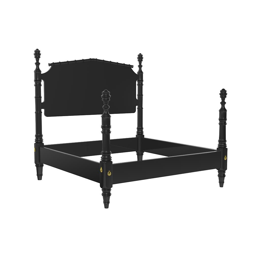 Black 4 Poster King Bed