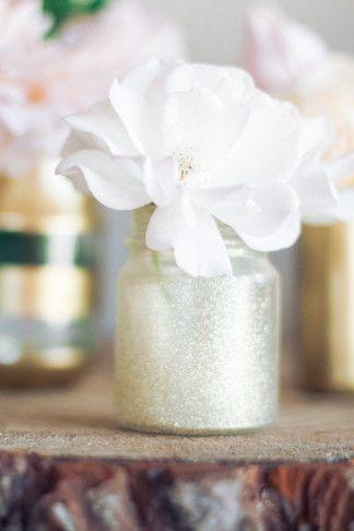 Diy Gold And Glitter Vases Tutorial Pinterest Glitter Vases