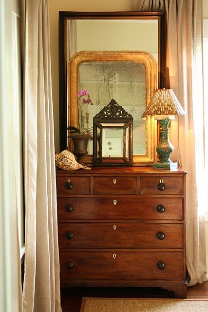Put Between Beds In Guest Room Could Take Top Off The Armoire And Use Bottom Wita Mirror On