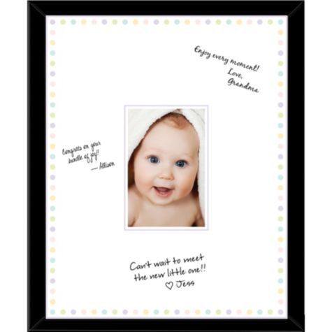 Baby Shower Autograph Photo Frame - Party City | Future Baby Shower ...