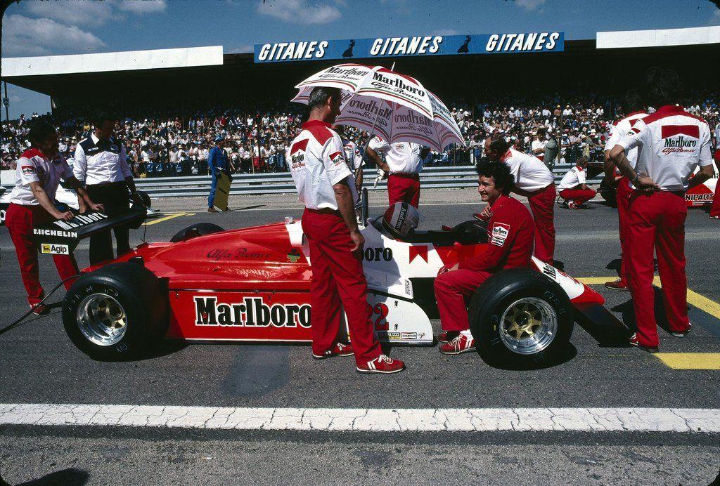 Andrea de Cesaris (ITA) (Marlboro Team Alfa Romeo), Alfa Romeo 182 - Alfa Romeo 1260, 3.0 V12 (finished 10th) 1982 Swiss Grand Prix, Dijon-Prenois (France) © S. Le Bozec | Source: Flickr