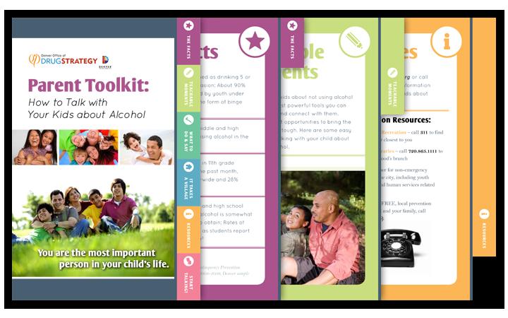 Denver Office of Drug Strategy parent toolkit | brochure design ...