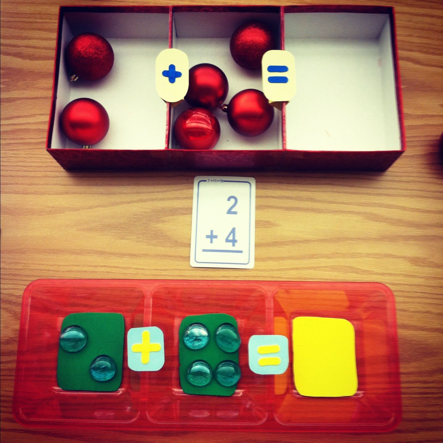 Simple Math game all you need are some flash cards