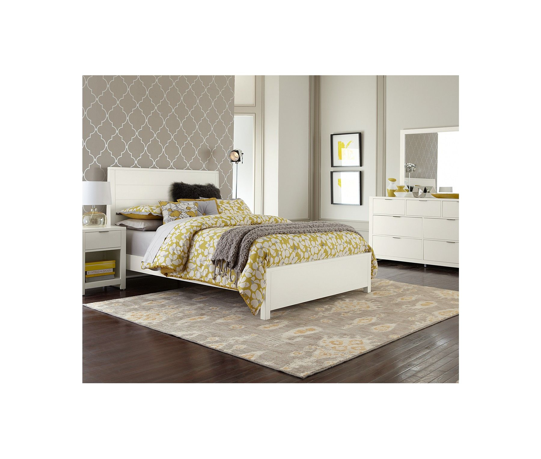 Tribeca White Full Bed - Furniture - Macy's