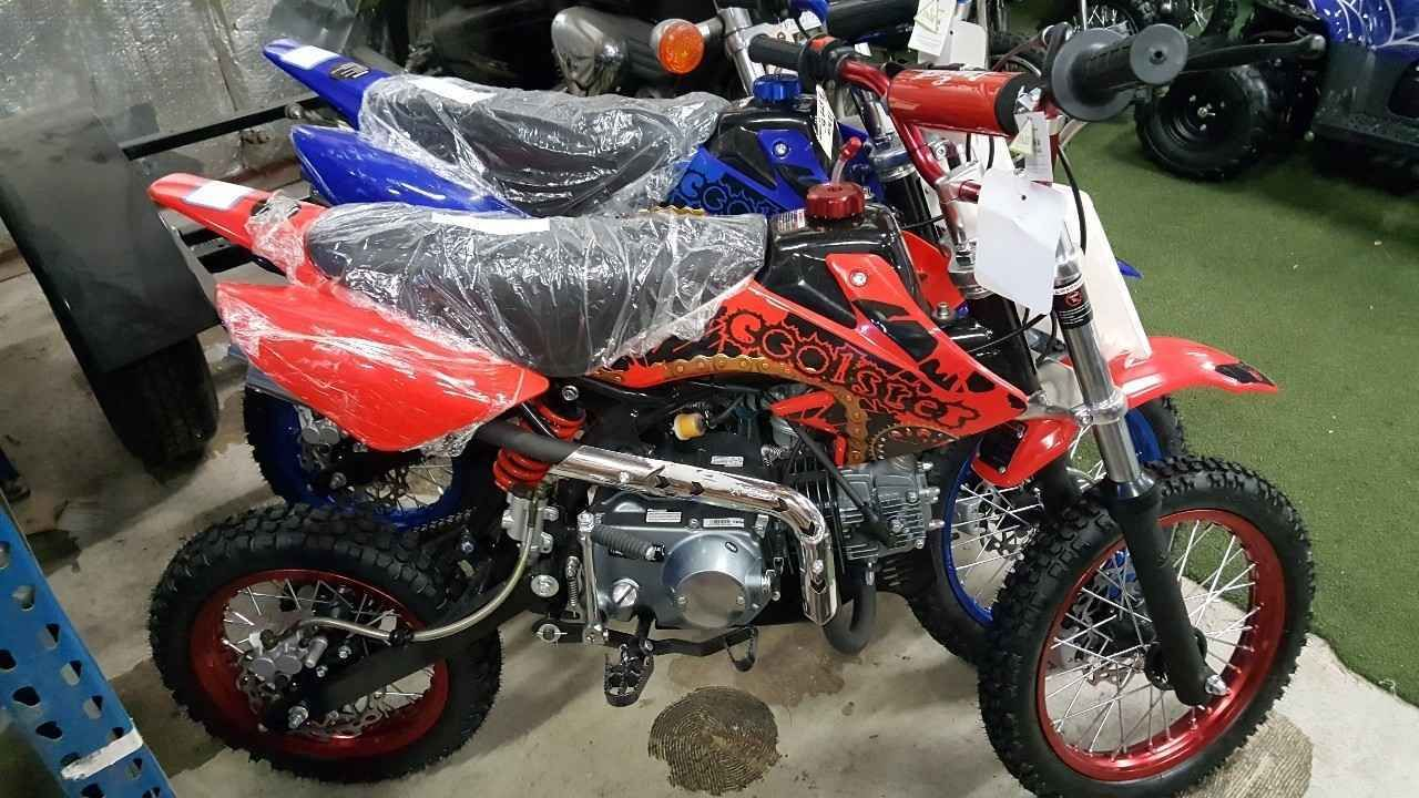 2016 Coolster Red 125cc Manual Clutch Mid Size Dirt Bike Dirt