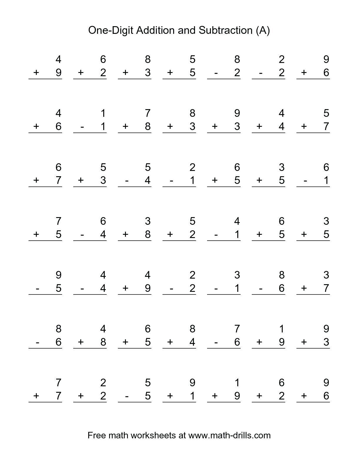 39 Simple First Grade Math Worksheets For You Https Bacamajalah Com 39 Sim Basic Math Worksheets Addition And Subtraction Worksheets Subtraction Worksheets