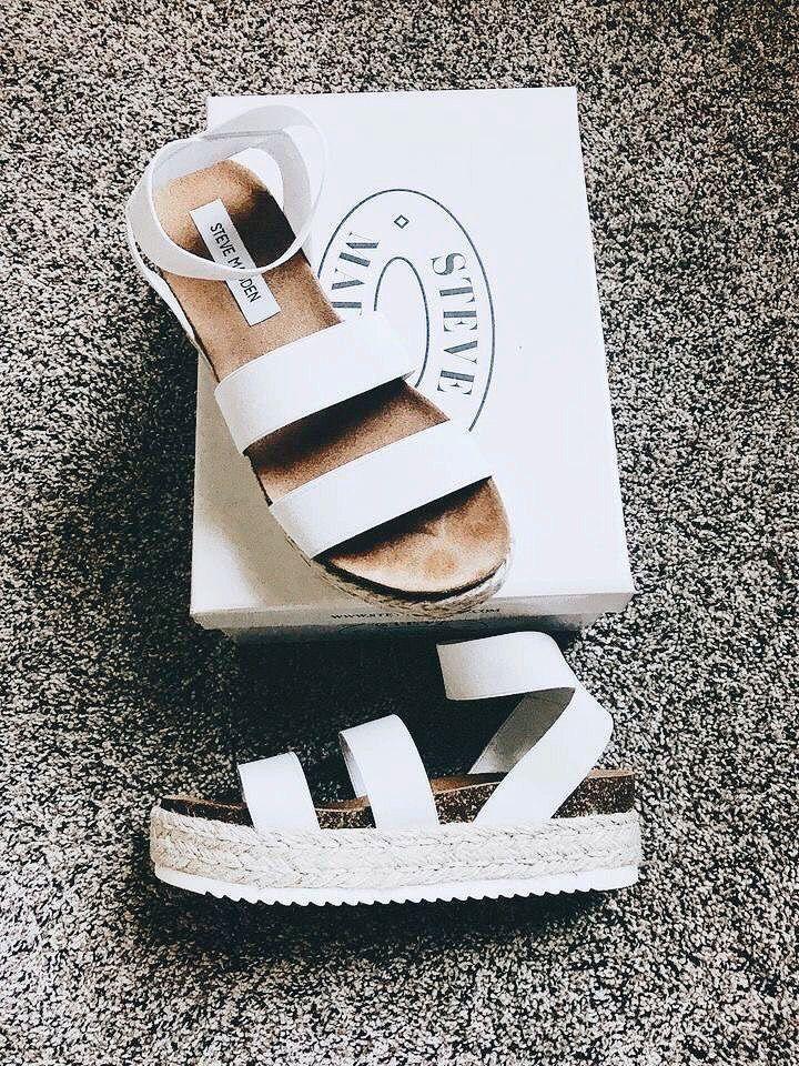 steve madden women's kimmie flatform espadrille sandals white