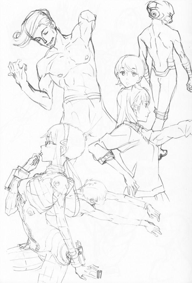 tumblr_m2k8qqcWpi1ru...@-巖-采集到atmosphere's sketchbook(114图)_花瓣插画/漫画
