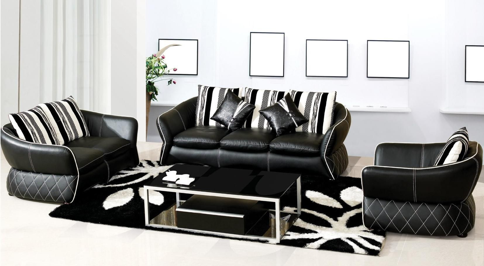 Browse Awesome Living Room Decorating Ideas And Furniture Layouts Amazing Black Leather Living Room Furniture Inspiration