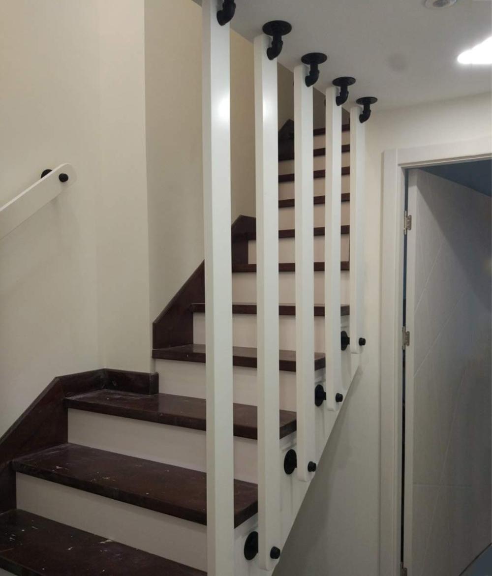 Balustrade de s/écurit/é int/érieure Convient pour Les Bars YUDE-1ft Balustrade descalier en Bois Massif Blanc Balustrade en pin antiglisse Escaliers