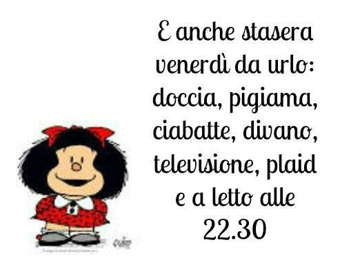 Venerd da urlo mafalda la saggia comics peanuts for Immagini divertenti venerdi