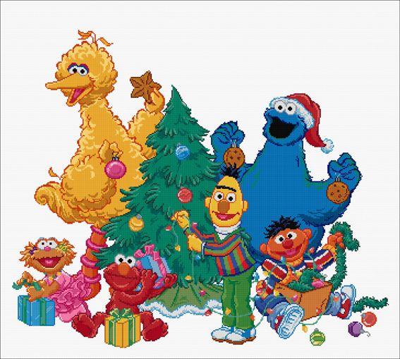Kleurplaten Kerst Sesamstraat.Kerst Sesamstraat Kerst 2018