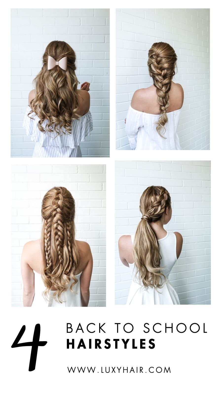 Todayus weure sharing super easy back to school hairstyles on the