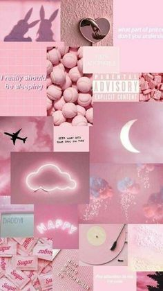Pink photo collage