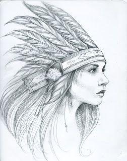 American Girl Indian Tattoo Szukaj W Google Sketchy Pinterest