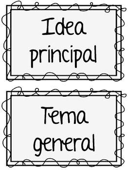 Spanish Main Idea Idea Principal Y Detalles K 2 Juego Para Clasificar Dual Immersion Dual Language Elementary Education