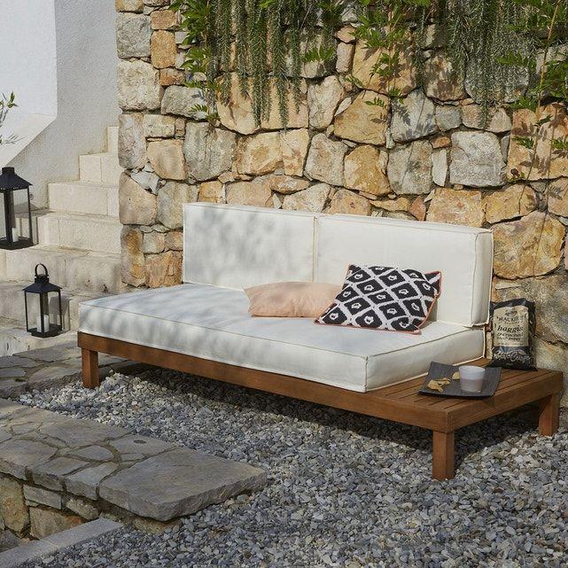 Banquette lit de jardin eucalyptus chann canap d Matelas banquette jardin