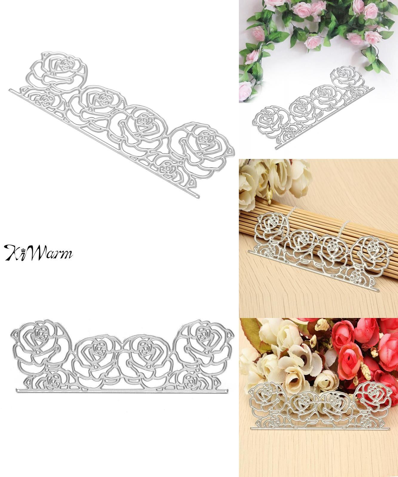 Visit To Buy Kiwarm Rose Lace Cutting Dies Stencils Template