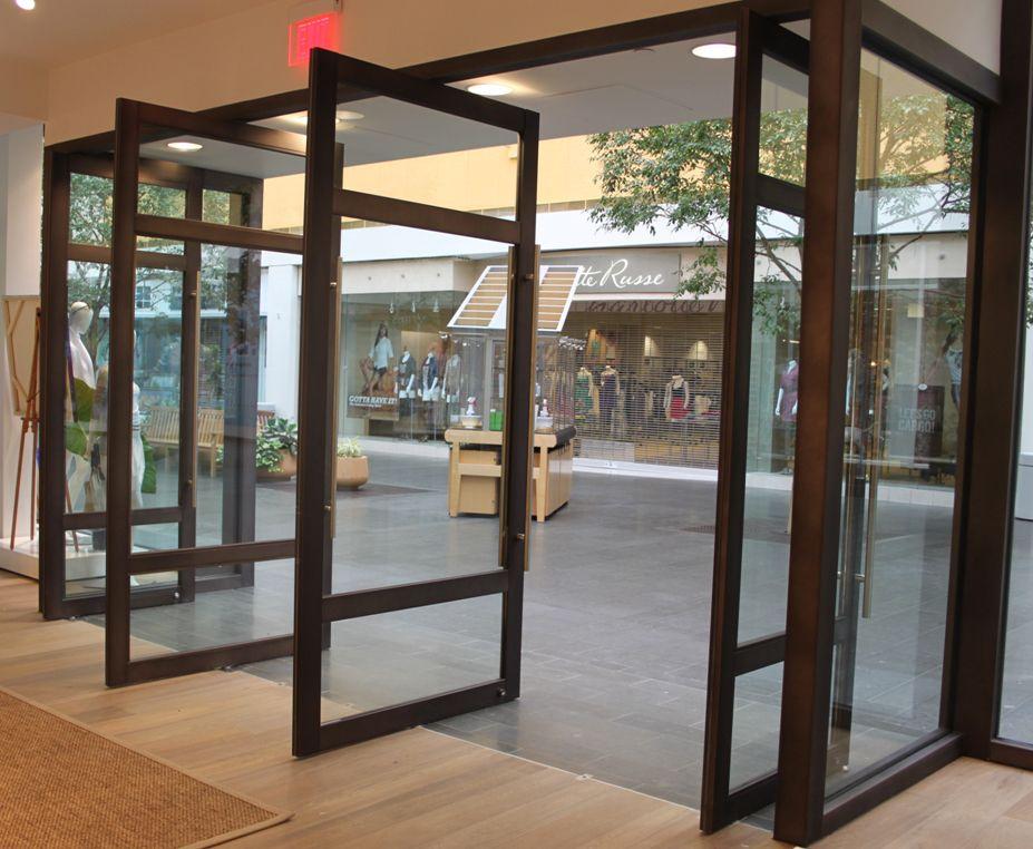 Black Aluminum Storefronts Narrow Medium Wide Stile Commercial Glass Doors Pivot Doors Traditional Windows And Doors